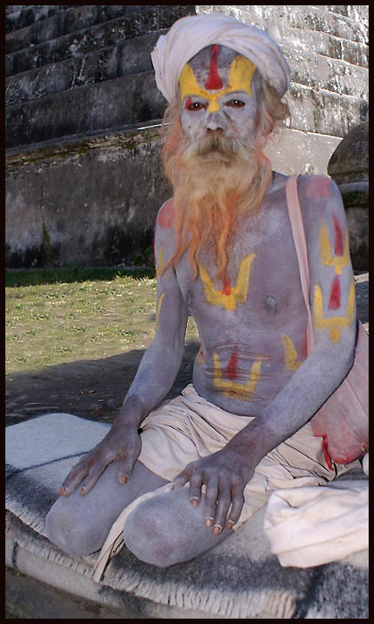 a sadhu at the pashupatinath hindu complex near ka downs jim