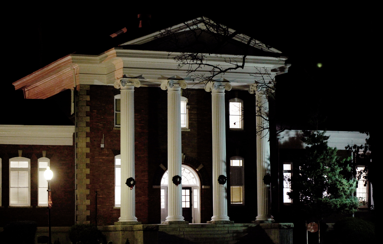 carnegie library at night author kelly landrum