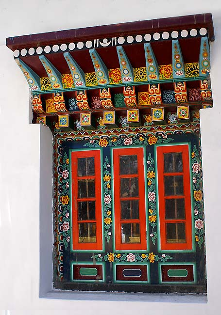 ornate rumtek monastery window author downs jim