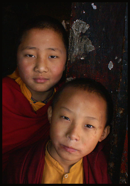 young monks at rumtek monastery in gangtok india downs jim