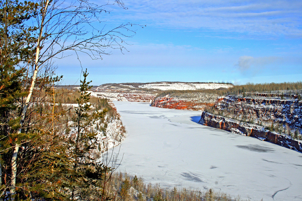 winter view of an old iron ore mine author pluskw pluskwik paul