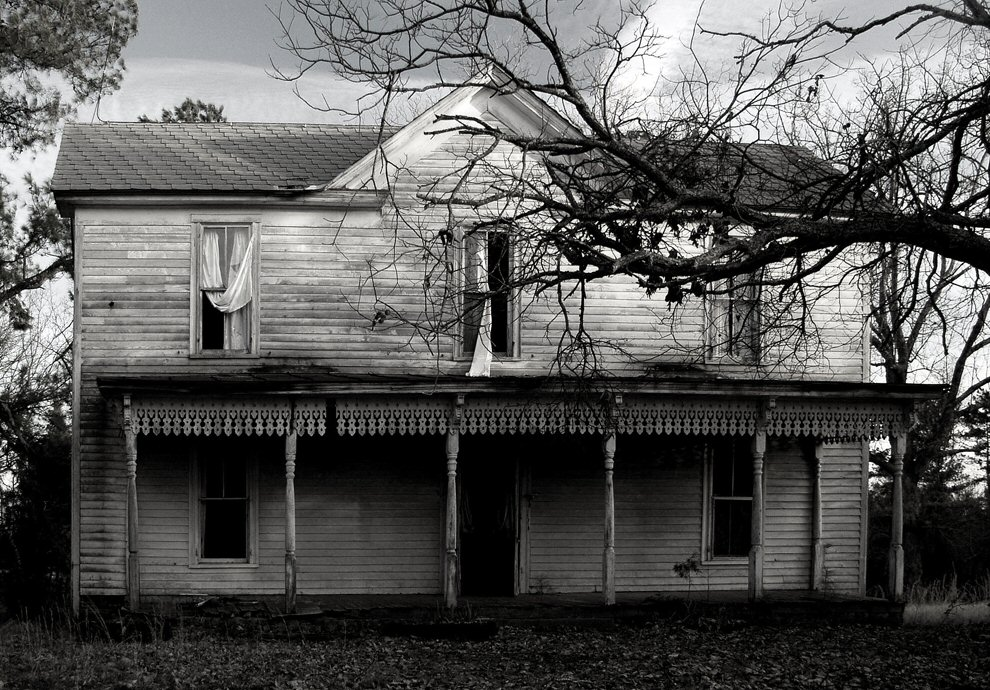 abandoned house erwin mill rd b w author kelly l landrum