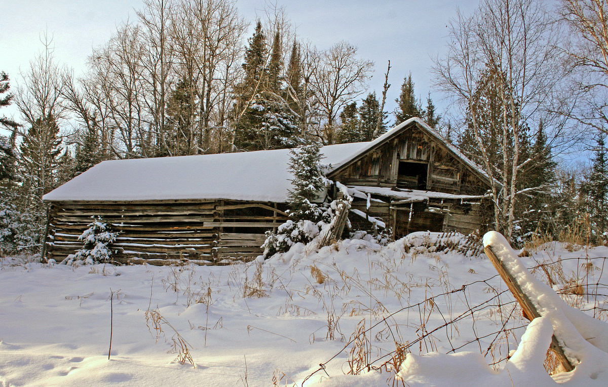 winter view of the old farm building author plusk pluskwik paul