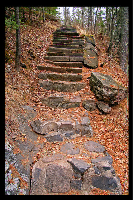 old stair way along lester river author pluskwik paul