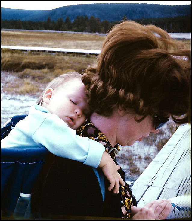 napping on the trail at yellowstone author siege siegel honolulu gerry