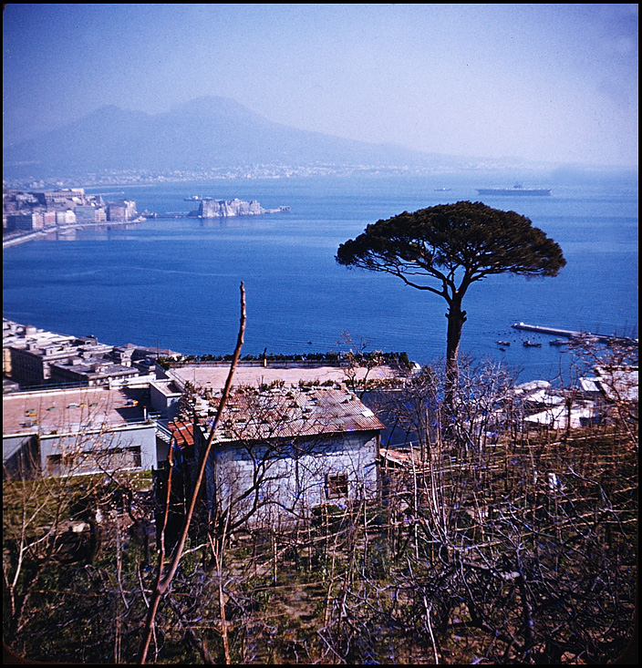 bay of naples with aircraft carrier at anchor au siegel honolulu gerry