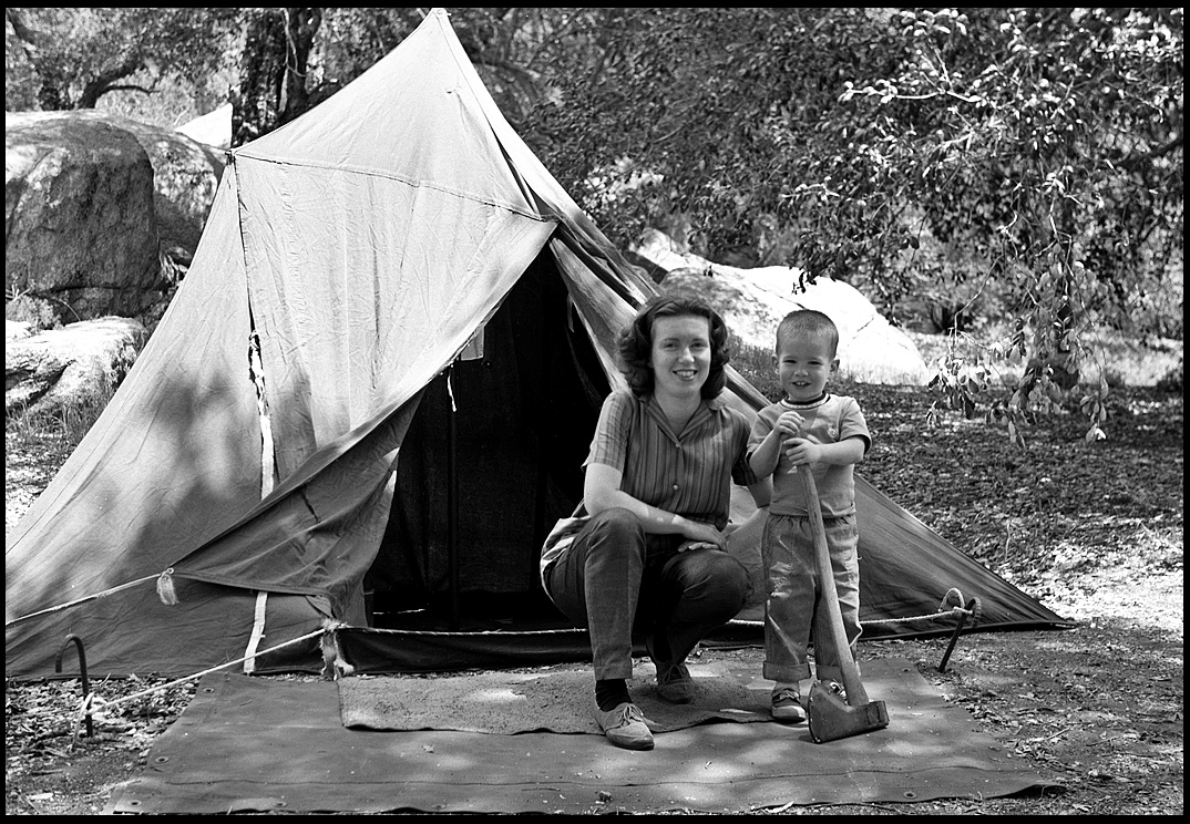 first campout w old borrowed tent cuyamaca state p siegel honolulu gerry
