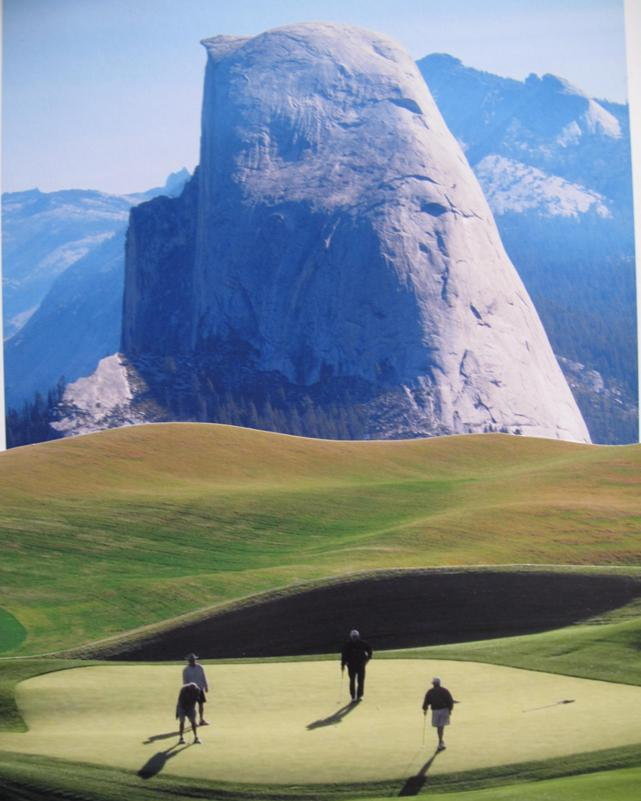 collage golfing at half dome author dreizler bob