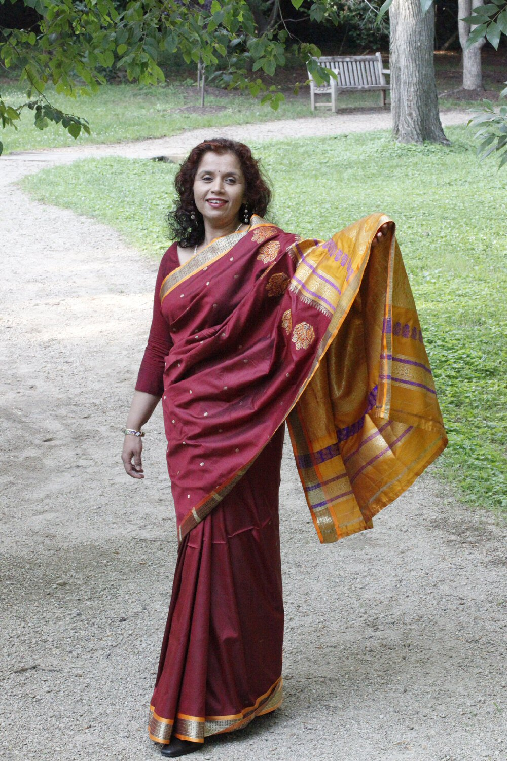 star of india with sari on full display accidental kelly landrum
