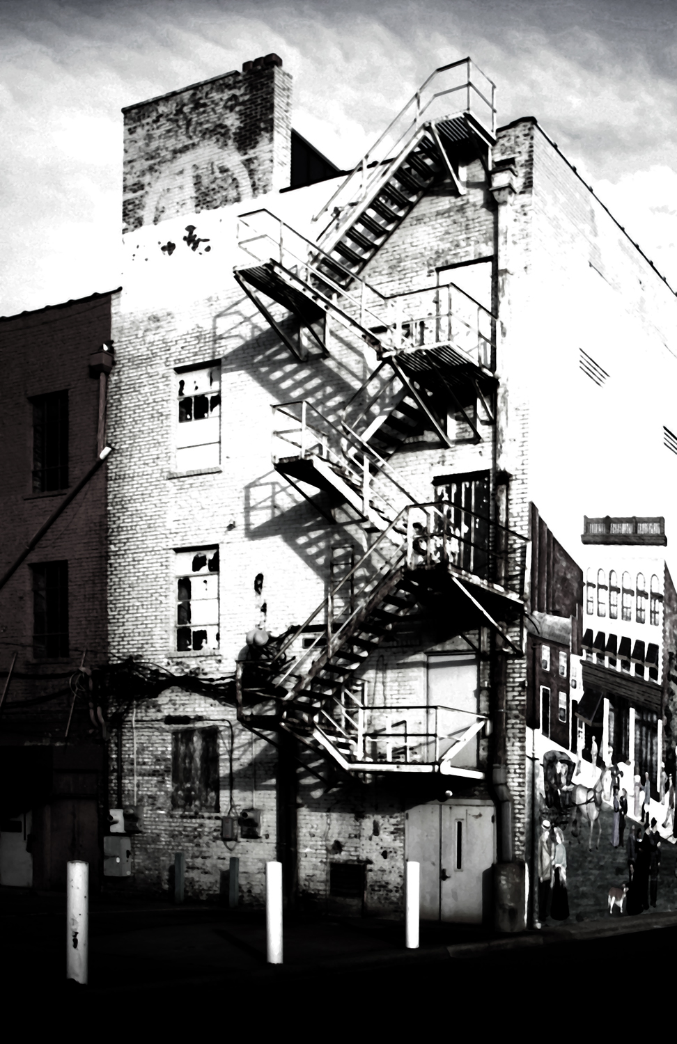 fire escape and mural salisbury nc please click on kelly landrum
