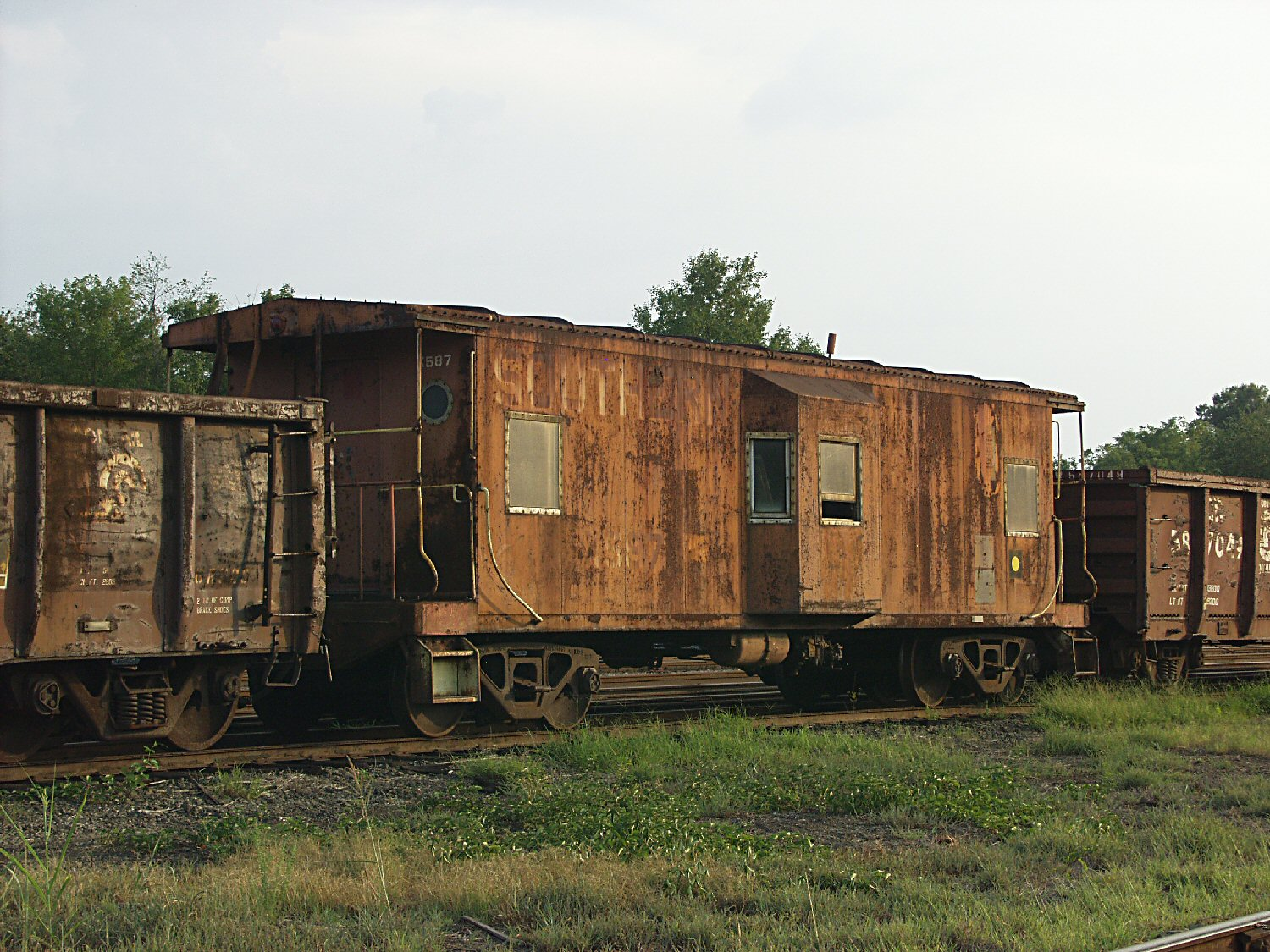 southern railway bay window caboose august autho kelly landrum