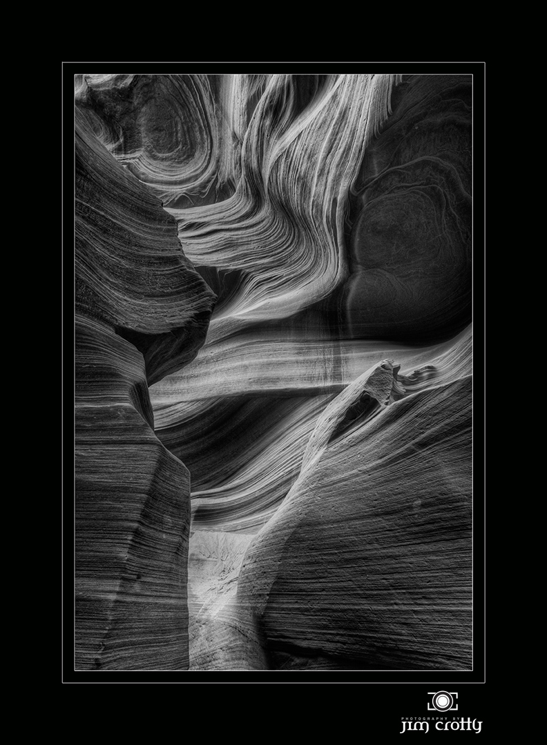 antelope canyon in black and white author crotty jim