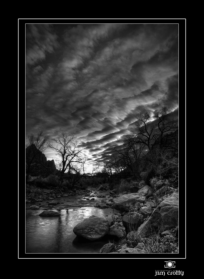 winter sky sunset over zion author crotty jim