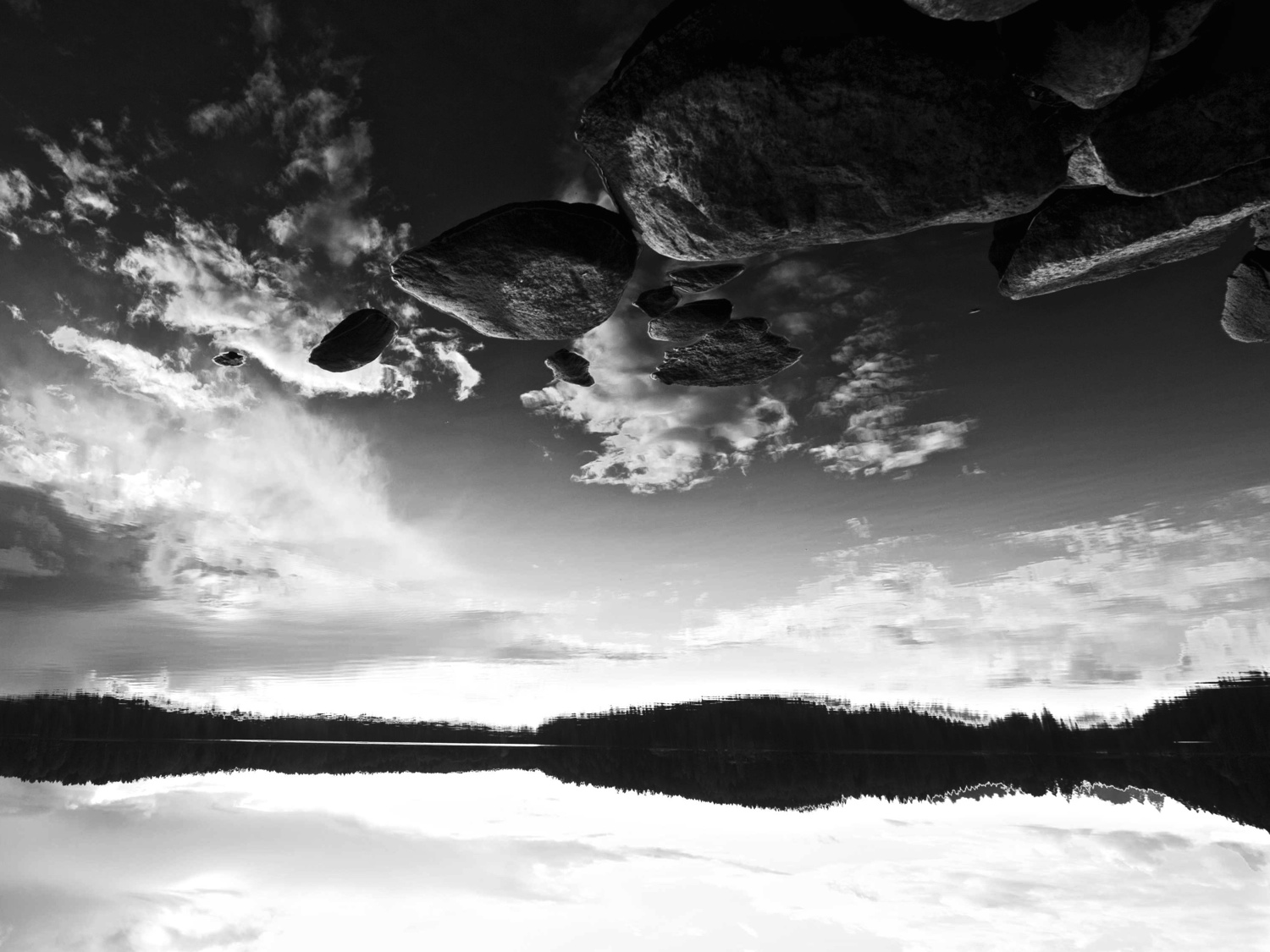 rock sky view in large please author soini hannu