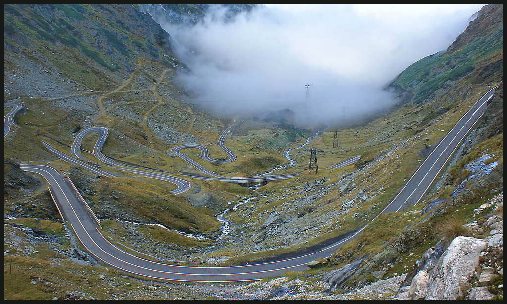 transfagarasan road across the carpathian mountain downs jim
