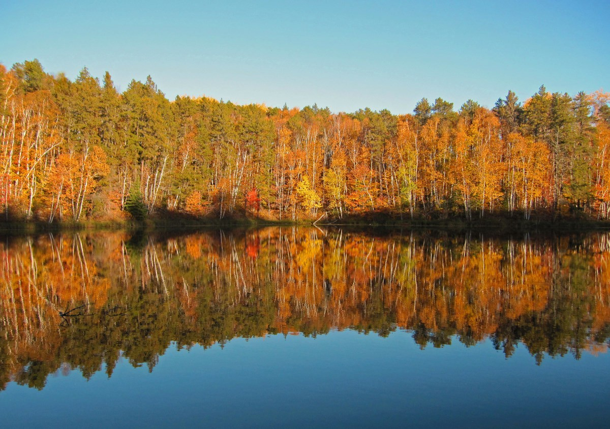 fall reflections at sunset author pluskwik paul