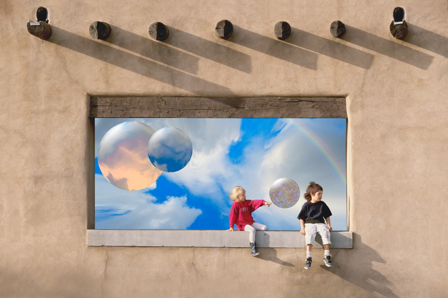 kids on wall poster author rodney andrew