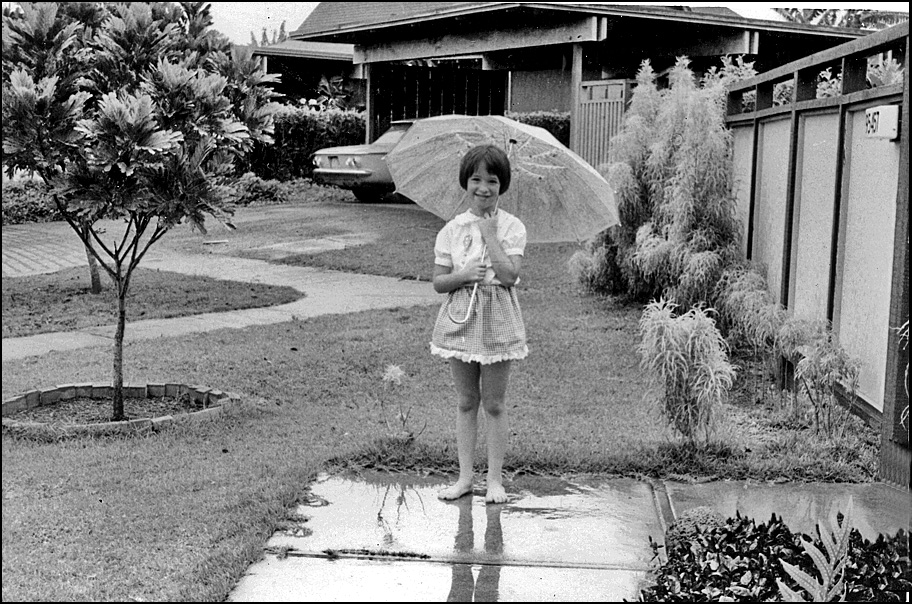 sharon in drizzle front gate ca author siegel ho honolulu gerry