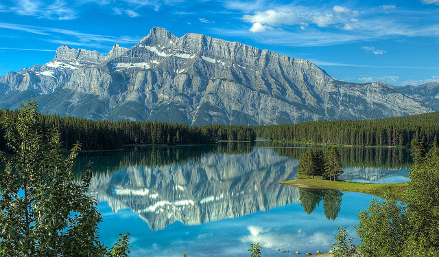 two jack lake reflection three years later author scherer kevin