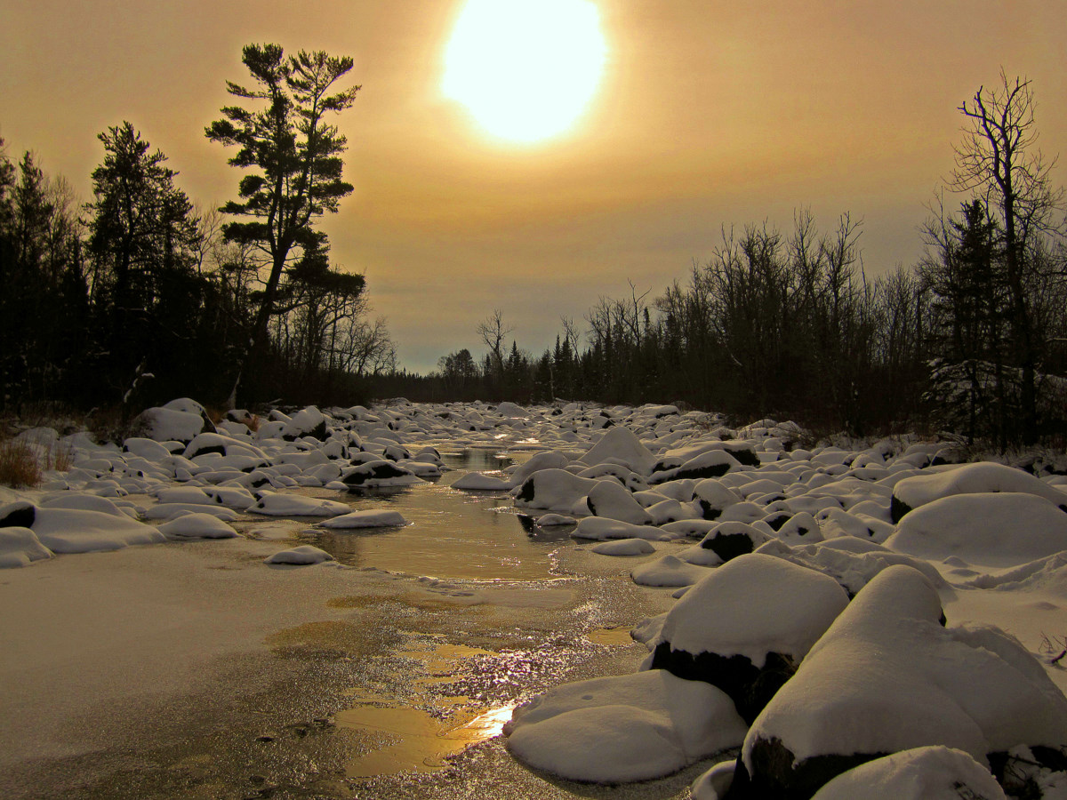 winter view of the partridge river author pluskwi pluskwik paul