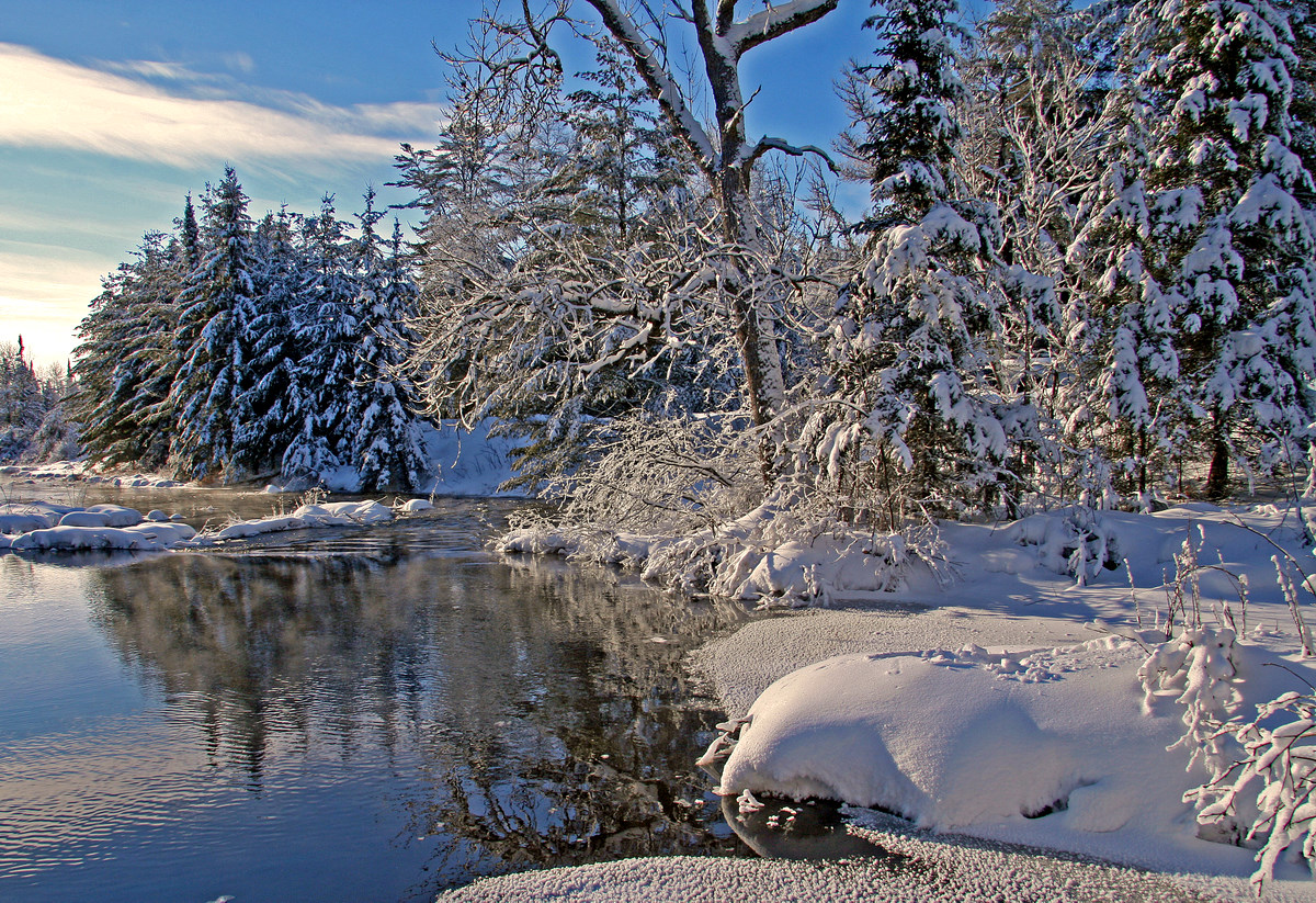 whiteface river shoreline in the winter author pl pluskwik paul