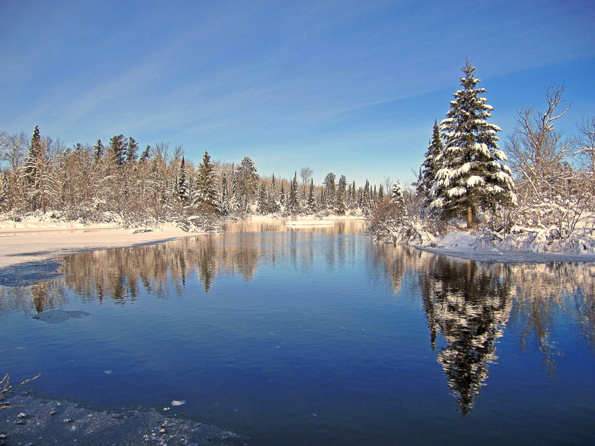 whiteface river winter reflections author pluskwi pluskwik paul