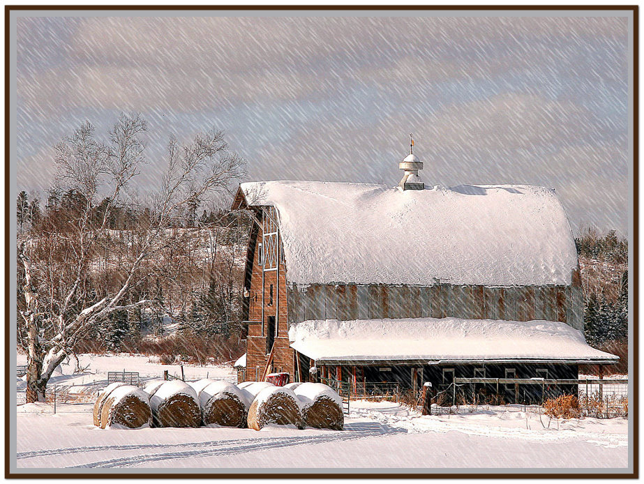 winter farm landscape author pluskwik paul