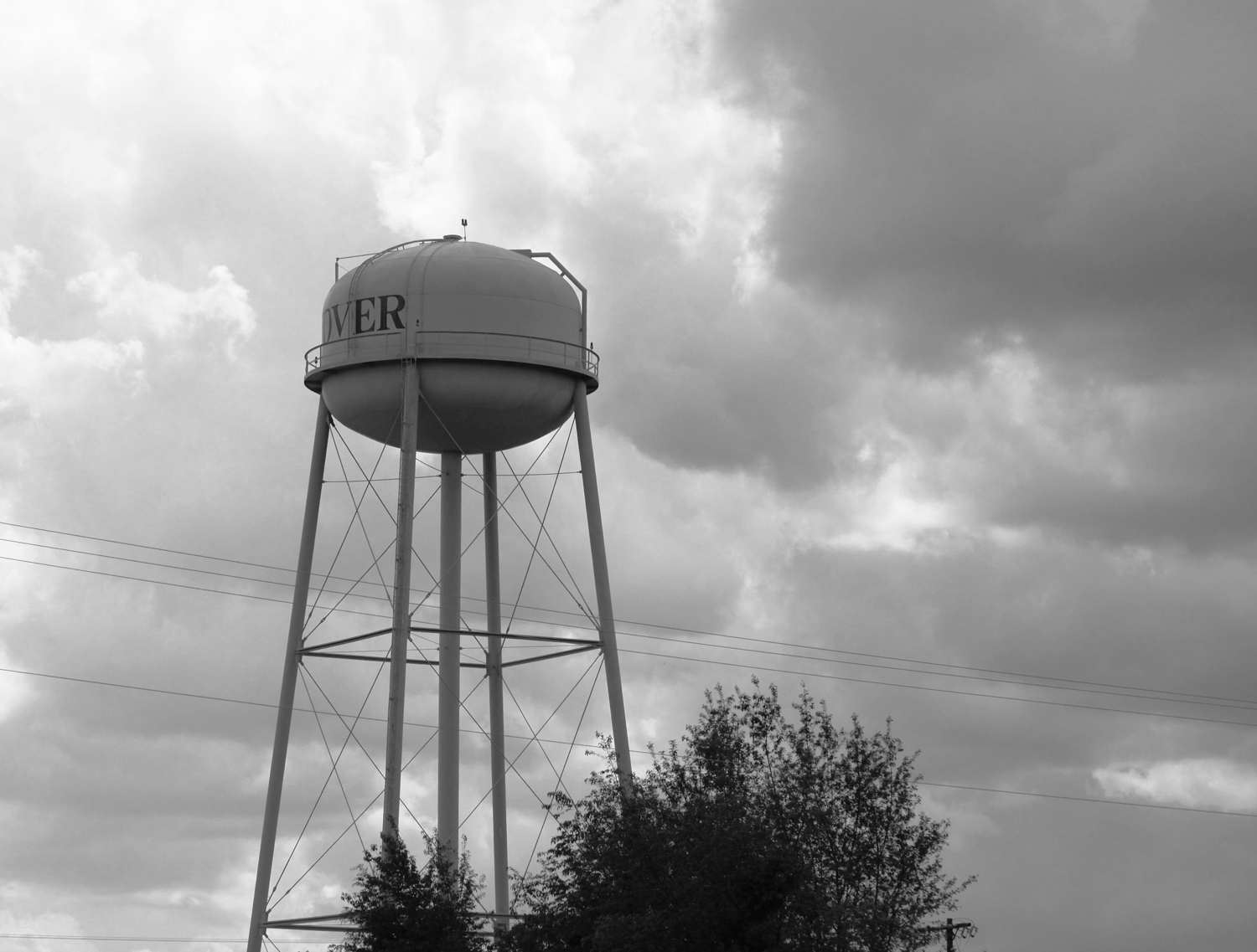 over clover water tower under may skies sc kelly landrum
