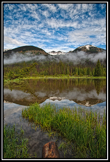 beaver ponds morning clouds author gricoskie jare jared