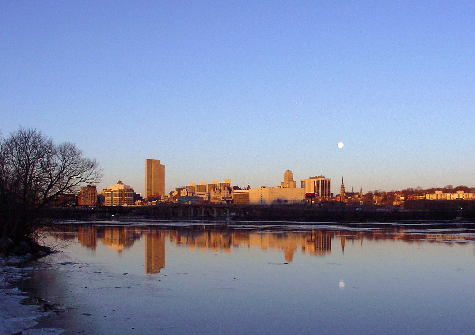 moonset over albany author hull ray