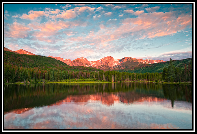 sprague lake august sunrise author gricoskie jare jared