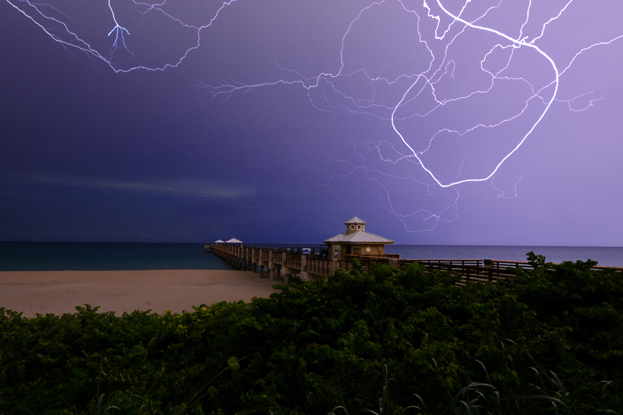 juno beach pier lightning author watson richard