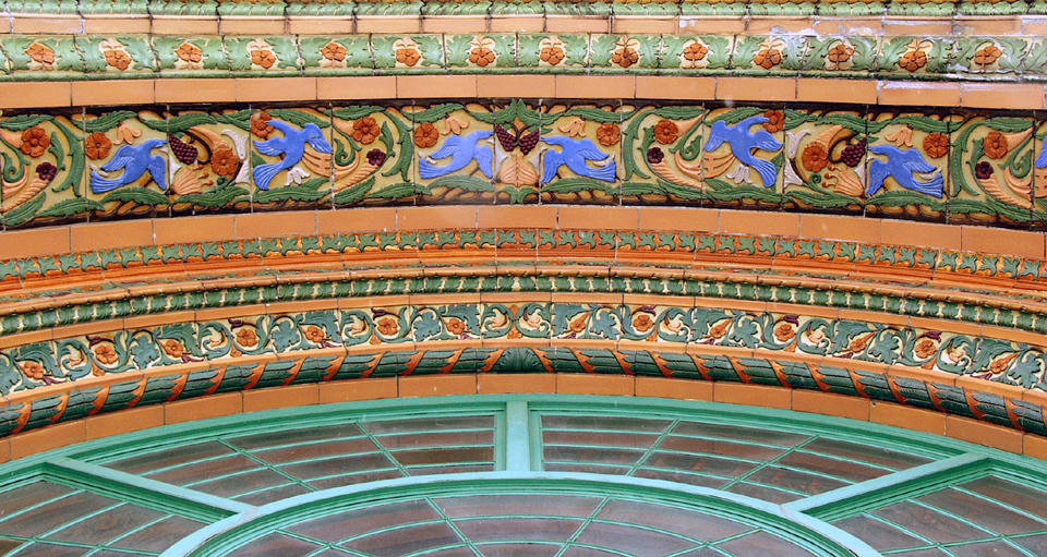 entryway arch frieze author hull ray