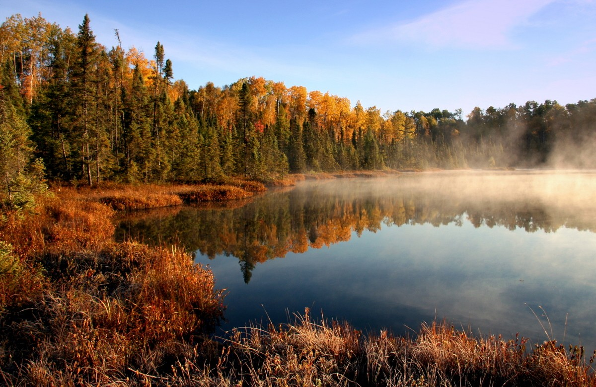 foggy and frosty fall morning reflections author pluskwik paul