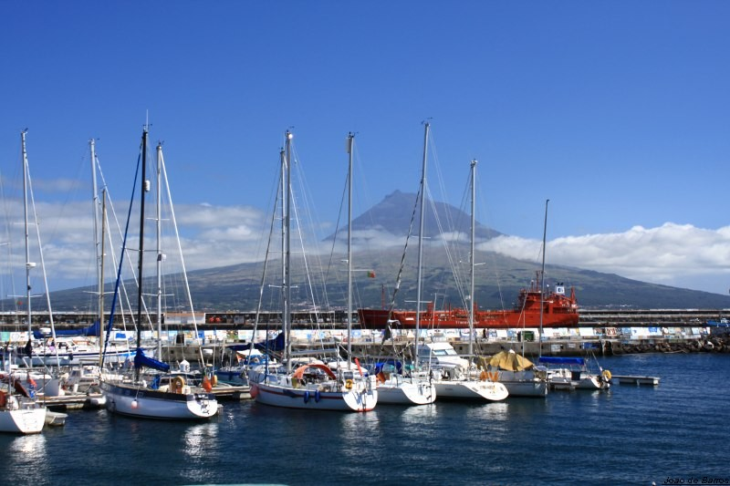 horta harbour with pico island in front author ba barros joao