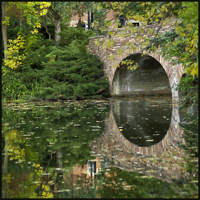 stone bridge in autumn author downs jim