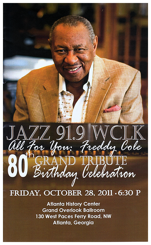 freddy cole th birthday party program guide phot walker clay