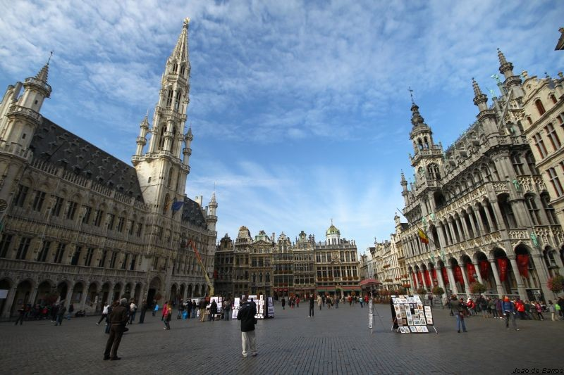 brussels la grand place author barros joao