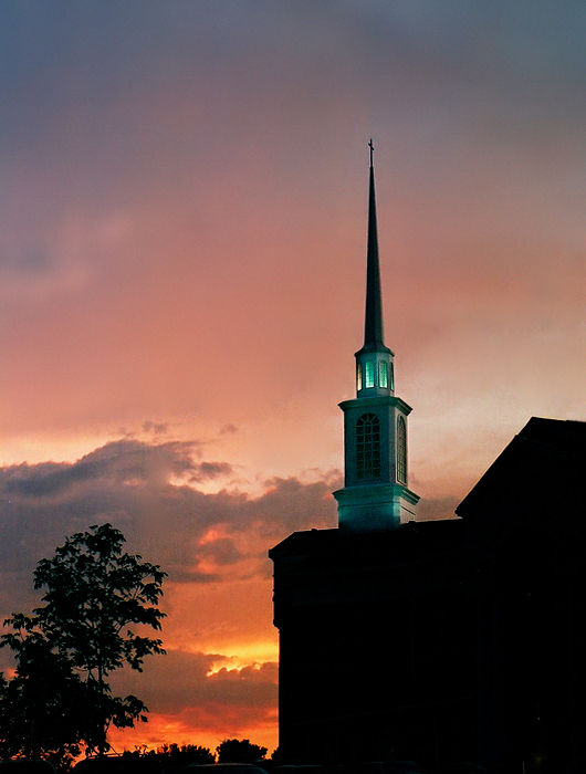 steeple at sunset author meluso louis