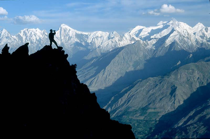 the hunza valley in pakistan standing at feet au smeby petter