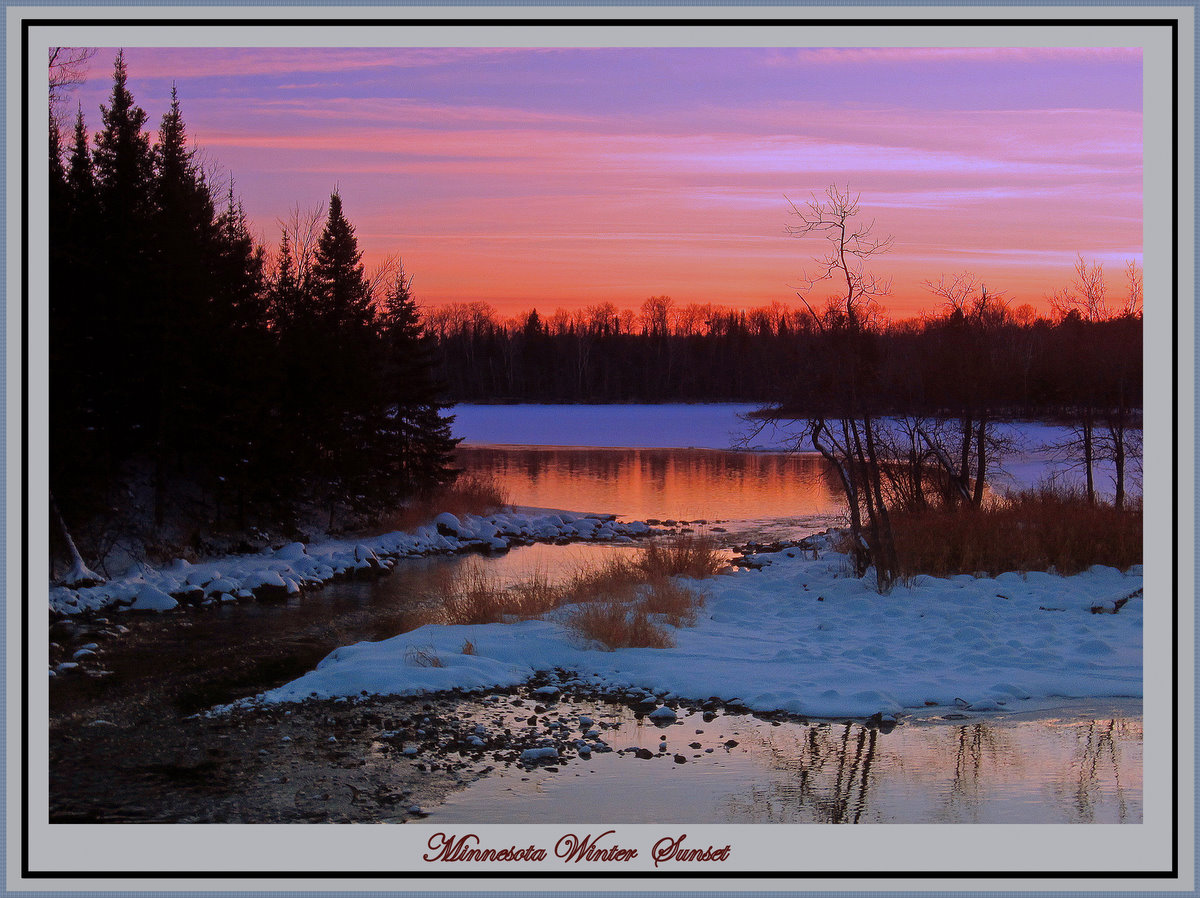 mid winter thaw at sunset author pluskwik paul