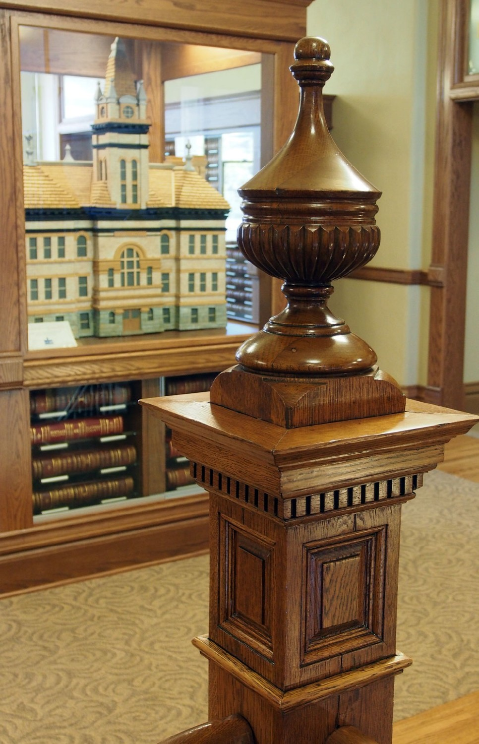 newel post flathead county courthouse author hull ray
