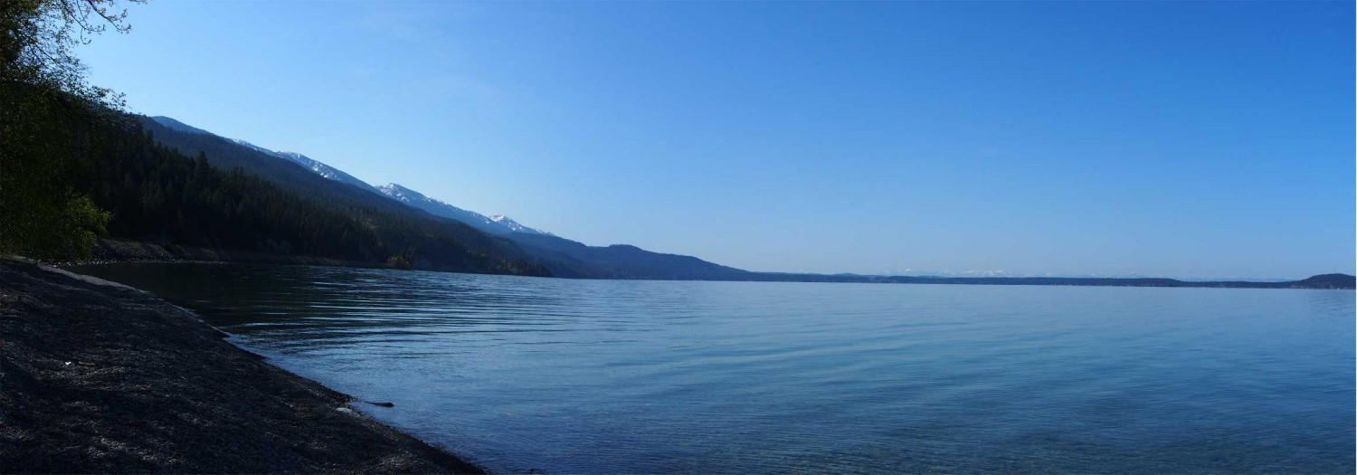 flathead lake looking south of big fork aut hull ray