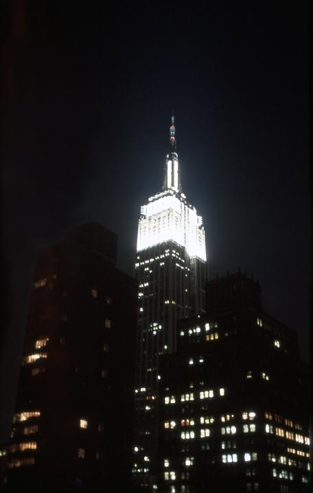 empire state building evening author hull ray