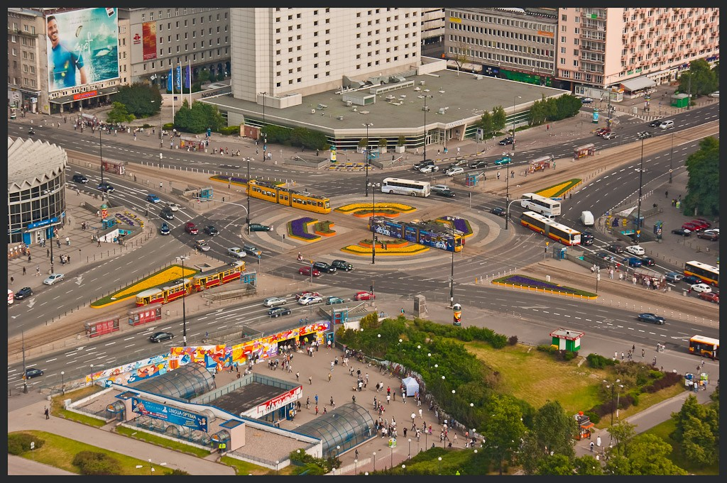 colorful warsaw traffic circle large view author downs jim