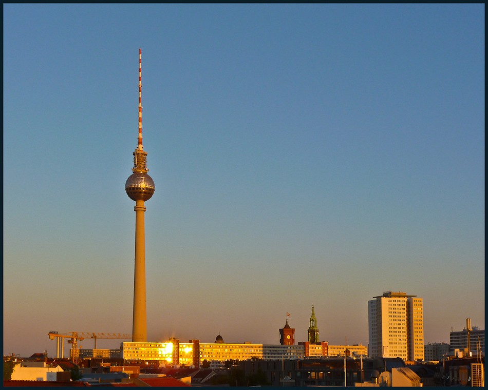 berlin tv tower at dusk larger available author downs jim