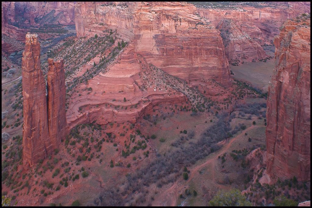 cyn de chelly spider rock larger view author dow downs jim