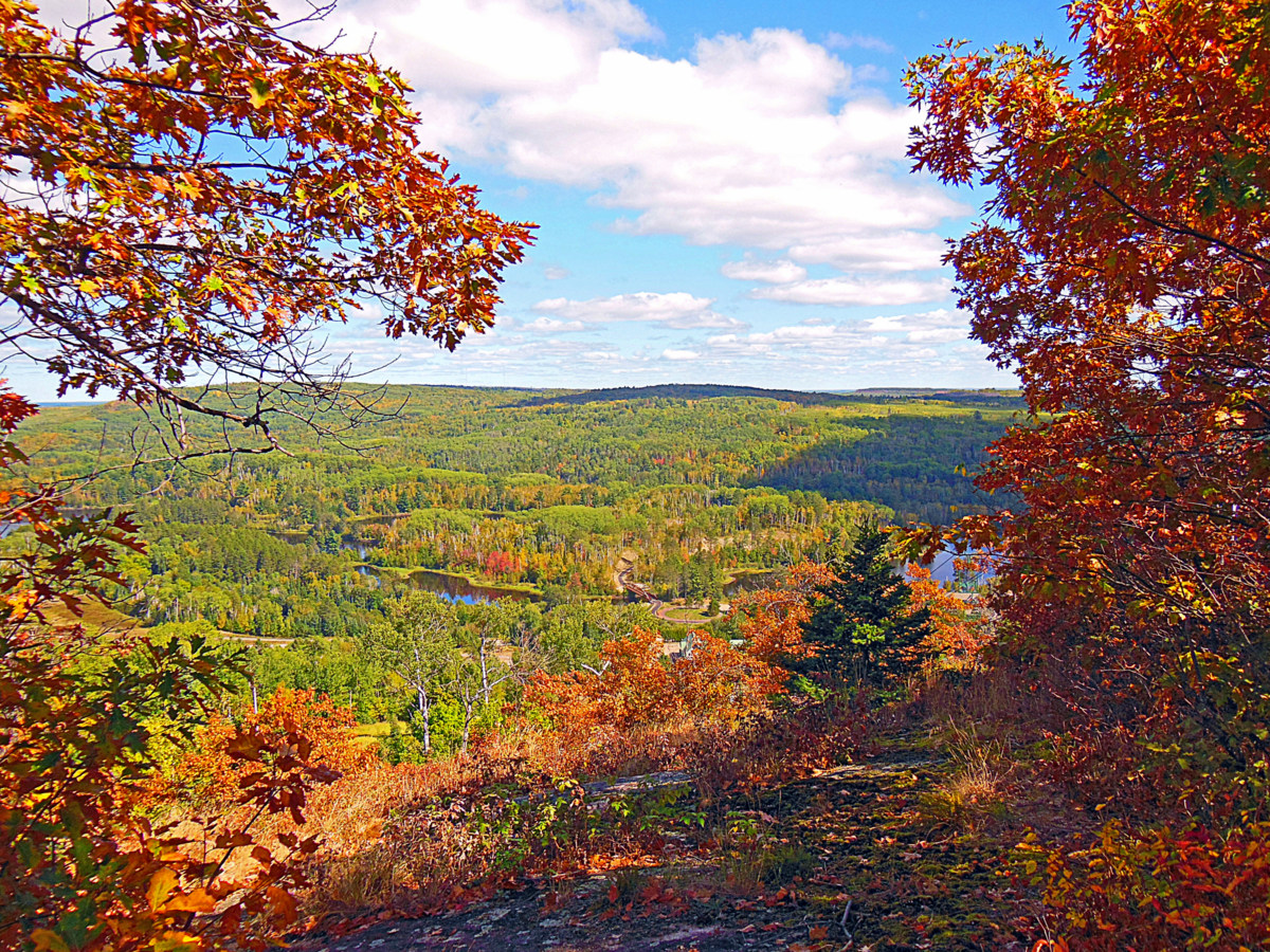 early fall view from the top of hill author p pluskwik paul