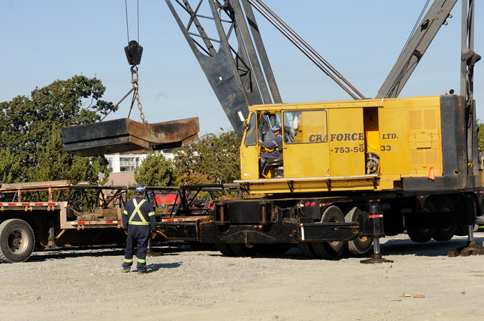 assembly of the crane begins with unloading ma melia wayne
