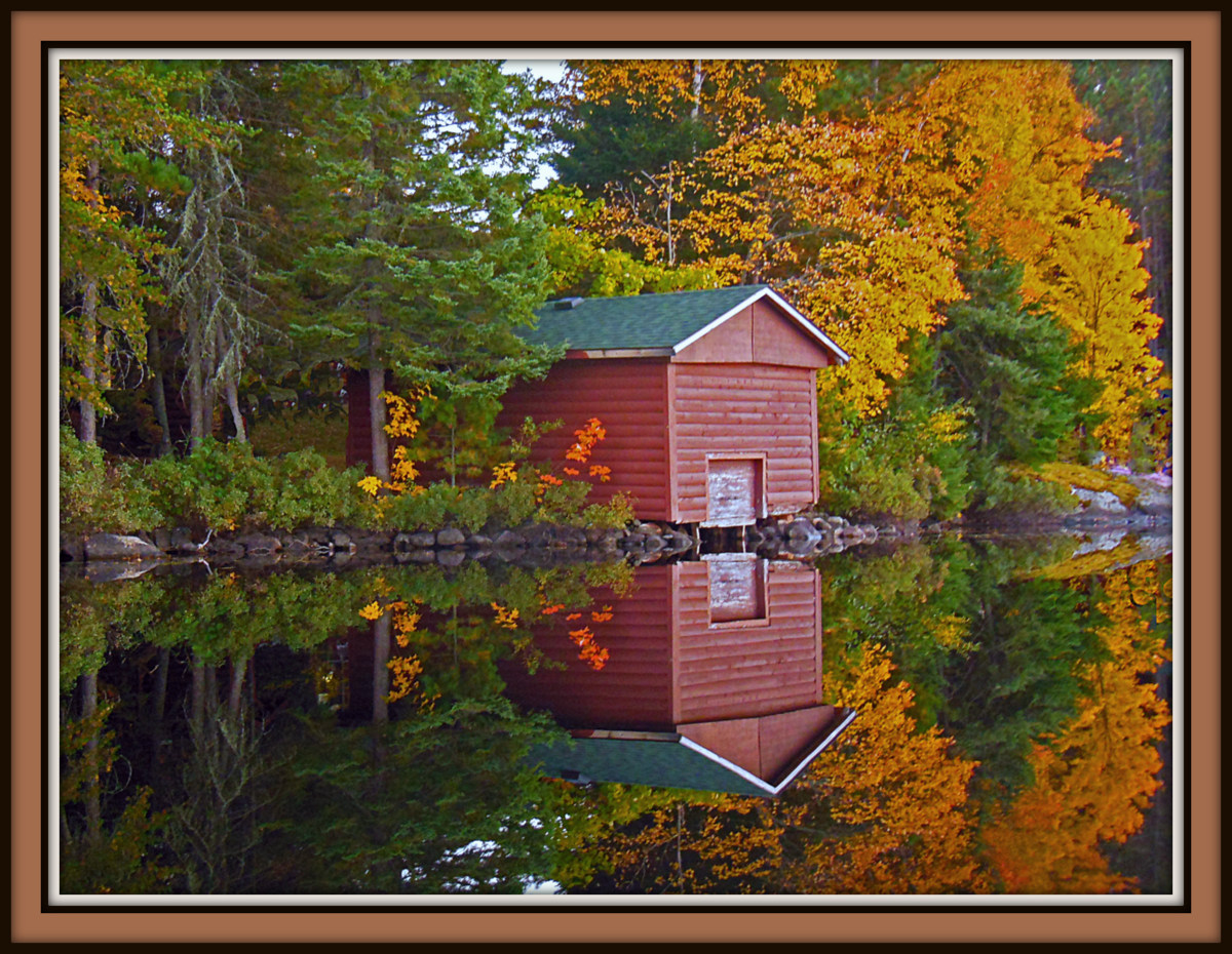 boat house fall reflection author pluskwik paul